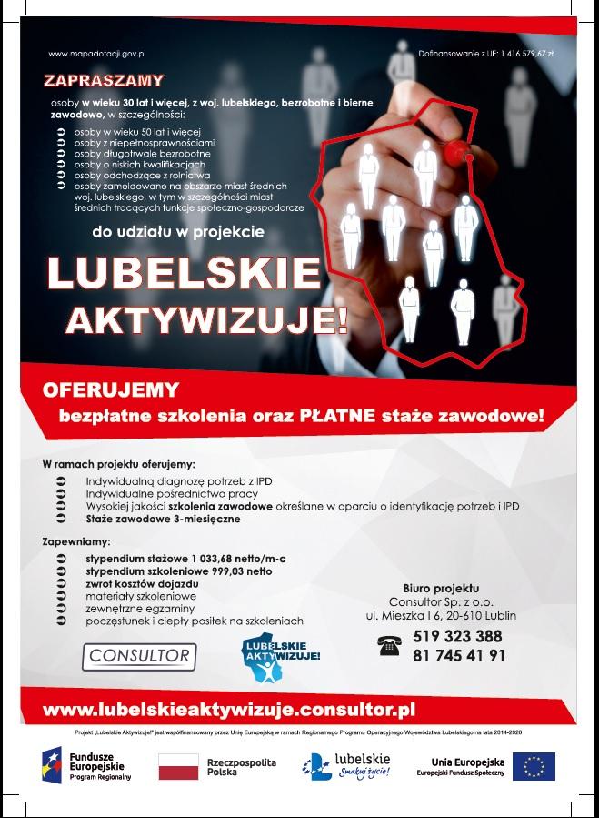 "Plakat ""Lubelskie aktywizuje"""